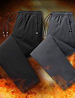cheap -Men's Work Pants Fleece Lined Pants Hiking Down Pants Trousers Winter Outdoor Thermal Warm Windproof Breathable Lightweight Bottoms Beam mouth gray Scattered gray Beam mouth black Scattered black