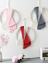 cheap -Nordic Style Room Hotel Living Room Circle Wall hanging hand-woven bed and breakfast room wall hanging decorations simple color dream catcher