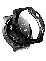 cheap -compatible with huawei watch gt2 pro/gt 2 pro 46mm hard pc case with tempered glass screen protector, 2pcs electroplated case all around coverage protective bumpers cover&smartphone film (black)