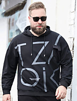 cheap -Men's Pullover Hoodie Sweatshirt Letter Plus Size Sporty Stylish Long Sleeve Athleisure Tops Sports & Outdoors Stylish Hooded Black