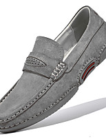 cheap -Men's Loafers & Slip-Ons Casual British Daily Office & Career Suede Gray Beige Fall Spring