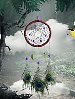 cheap -Peacock Feather Dream Catcher Bell Handicrafts Pendant Garden Decoration XR063