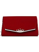 cheap -Women's Bags Evening Bag Solid Color Party / Evening Date Chain Bag Black / White Gold Black Red