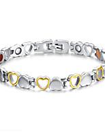 cheap -Women's Bracelet Bangles Classic Heart Stylish Simple Trendy Steel Bracelet Jewelry Silver / Golden / Black For Street School Gift Daily