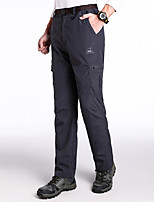 cheap -women's cargo pants, quick-drying, light, water-repellent, camping pants with pockets - gray - medium