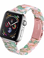 cheap -compatible with apple watch band 38mm 40mm 42mm 44mm slim light resin strap bracelet with stainless steel buckle replacement for iwatch series 6 5 4 3 2 1 se (green pink/pink, 38/40 mm)
