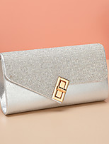 cheap -Women's Bags PU Leather Evening Bag Buttons Rhinestone Party / Evening Date Evening Bag Silver Gold