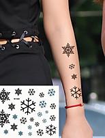 cheap -5 Pcs Snowflake Tattoo Sticker Lasting Waterproof Personality Retro Art Girl Gothic