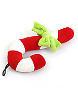 cheap -Christmas Toy Sqeauking Toy Cat 1pc Adorable Releasing Pressure Flannel Gift Pet Toy Pet Play
