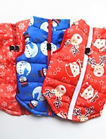 cheap -Dog Puffer / Down Jacket Reindeer Santa Claus Snowman Santa Claus Deer Classic Style Christmas Festival Winter Dog Clothes Puppy Clothes Dog Outfits Warm White / Red Red Blue Costume for Girl and Boy