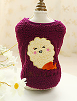 cheap -Dog Cat Sweater Sweatshirt Solid Colored Patterned Adorable Cute Dailywear Casual / Daily Winter Dog Clothes Puppy Clothes Dog Outfits Soft Purple Blue Gray Costume for Girl and Boy Dog Cotton XS S M