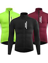 cheap -WOSAWE Men's Cycling Jacket Winter Bike Tracksuit Windbreaker Winter Fleece Jacket Thermal Warm Windproof Fleece Lining Sports Solid Color Burgundy / Green / Black Clothing Apparel Bike Wear