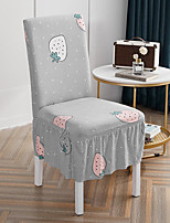 cheap -Stretch Kitchen Chair Cover Slipcover for Dinning Party With Skirt Cartoon Fruits High Elasticity Four Seasons Universal Super Soft Fabric