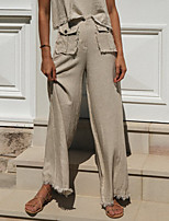 cheap -Women's Casual Streetwear Comfort Chinos Holiday Weekend Pants Plain Full Length Pocket Khaki