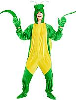 cheap -Adults' Kigurumi Pajamas Nightwear Cartoon Onesie Pajamas Velvet Green Cosplay For Men and Women Animal Sleepwear Cartoon Festival / Holiday Costumes