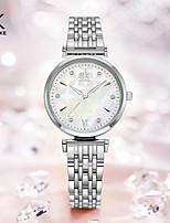 cheap -Shengke Bracelet Women Watch Silver Classical Wristwatch Gift for Women Original Design Watch Relgios Femininos