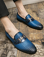 cheap -Men's Loafers & Slip-Ons Business British Party & Evening Office & Career Walking Shoes Faux Leather Booties / Ankle Boots Blue Black Spring Summer
