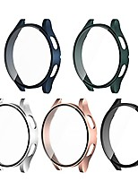 cheap -5 pack  case compatible with samsung galaxy watch 4 40mm, hard pc full lightweight slim protective bumper cover build in screen protector for galaxy watch 4 accessories