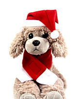cheap -Dog Cat Dog Scarf Santa Claus Headwarmers Thick Velvet Christmas Winter Dog Clothes Puppy Clothes Dog Outfits Warm Red Costume for Girl and Boy Dog Fleece Plush S M L