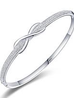 cheap -Women's Bracelet Bangles Classic Bowknot Simple S925 Sterling Silver Bracelet Jewelry Silver For Wedding