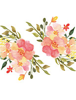 cheap -Christmas Floral Plants Wall Stickers Living Room Toilet Removable Pre-pasted PVC Home Decoration Wall Decal 1pc