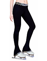 cheap -Figure Skating Pants Women's Girls' Ice Skating Tights Leggings Black Fleece Spandex High Elasticity Training Practice Competition Skating Wear Thermal Warm Patchwork Ice Skating Figure Skating