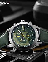 cheap -Sinobi New Chronograph Calendar Waterproof Geneva Quartz Clock Military Hora Relogio Masculino Big Dial Sports Quartz Watches