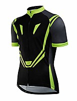 cheap -men's cycling jersey, outdoor sports breathable bike clothing bicycle short sleeve suit cycling jersey green(s)