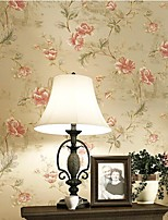 cheap -Wallpaper Wall Covering Sticker Film Peel And Stick Embossed Stripe Retro Pastoral Distressed Big Flower 3d Bronzing  Non Woven HomeDeco 53*1000CM