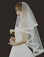 cheap -Two-tier Classic Wedding Veil Blusher Veils with Solid Tulle