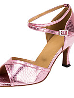 cheap -Women's Latin Shoes Professional Heel High Heel Open Toe Blue Pink Green Lace-up Adults' Party Heels Party Collections
