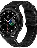 cheap -for galaxy watch 4 classic bands 46mm 42mm, galaxy watch 4 band 44mm 40mm, 20mm military nylon canvas replacement strap band for samsung galaxy watch 4 classic/galaxy watch 4 black