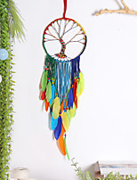 cheap -Color feather Big Wave dream Catcher Home Decoration wall hanging wall pendant Tree of Life Dream catcher room decoration
