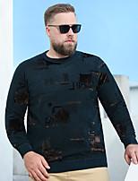 cheap -Men's Sweater Animal Patterned Jacquard Letter Plus Size Modern Style Stylish Long Sleeve Athleisure Tops Sports & Outdoors Stylish Ordinary Dark Green Black