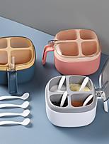 cheap -kitchen seasoning jar, salt shaker, seasoning box, transparent seasoning box, four-compartment seasoning jar, multi-compartment with lid, household