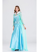 cheap -Princess Dress Cosplay Costume Adults' Women's Halloween Halloween Halloween Festival / Holiday Polyster Blue Women's Easy Carnival Costumes Solid Color / Shawl