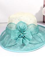 cheap -Women's Party Hat Party Wedding Street Flower Flower Beige Blue Hat / Fall / Summer