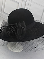 cheap -Women's Party Hat Party Wedding Street Flower Mesh Flower Wine Camel Hat / Black / Red / Gray / Fall / Winter
