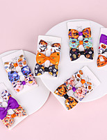 cheap -6 pcs/set Children's Halloween Bow Hairpin Three-piece Printed Halloween Element Side Clip