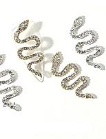 cheap -2 pcs Oversized Snake 3D Nail Charm Zodiac Gold Words Metal Crystals Rhinestones For Nails Art Decorations DIY Alloy Nail Diamond