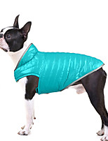 cheap -20 new pet clothes, dog clothes, light down and double-sided cotton-padded clothes, contrast color reflective small and medium-sized dog clothes