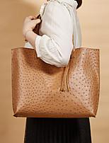 cheap -Women's Bags PU Leather Tote Top Handle Bag Tassel Tassel Daily Date Tote Handbags Blue Blushing Pink White Black