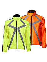 cheap -Men's Cycling Jacket Winter Bike Top Quick Dry Moisture Wicking Sports Patchwork Green / Orange Clothing Apparel Bike Wear / Long Sleeve / Micro-elastic / Athleisure