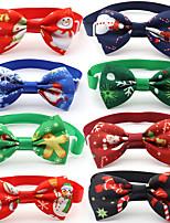 cheap -Dog Cat Tie / Bow Tie Retractable Adjustable Flexible Christmas Santa Claus Snowman Polyester Multicolor 3pcs