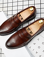 cheap -Men's Loafers & Slip-Ons Business Casual Vintage Daily Party & Evening Synthetics Black Brown Fall Winter