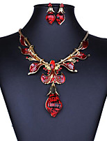 cheap -Women's Resin Bridal Jewelry Sets Geometrical Drop Boho Earrings Jewelry Purple / Red For Party Daily Holiday Festival 1 set
