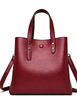 cheap -Women's Bags PU Leather Crossbody Bag Top Handle Bag Zipper Solid Color Vintage Daily Outdoor Retro Leather Bag Handbags Wine Purple Gray Khaki