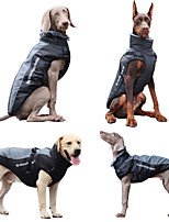 cheap -Dog Cat Puffer / Down Jacket Cartoon Casual Casual / Daily Outdoor Dog Clothes Puppy Clothes Dog Outfits Comfortable Black and Purple Black / White Blue Costume for Girl and Boy Dog Cowboy XL XXL 3XL