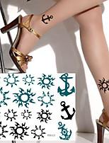 cheap -5PCS Waterproof Temporary Tattoo Sticker Sun Fake Tatto Flash Tatoo Tatouage Hand Foot Arm For Men Women Girl