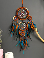 cheap -New creative Indian girl with five rings dream catcher dream catcher home pendant double feather tassel